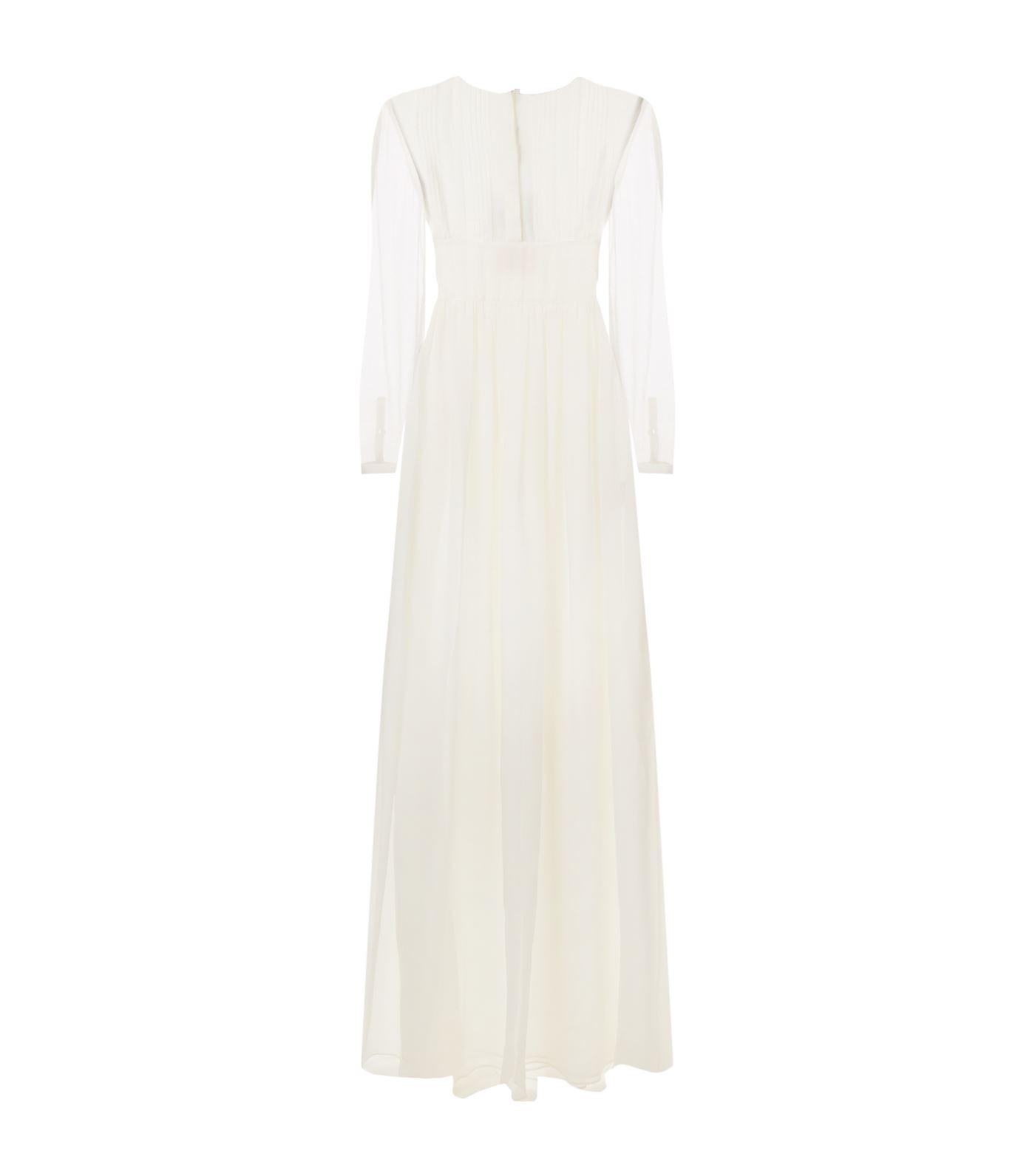 Burberry Cassia Silk Gown In White