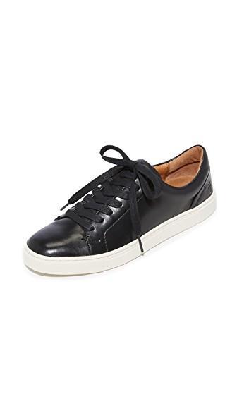 Frye Ivy Low Lace Sneakers In Black