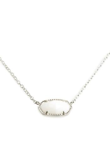 Kendra Scott Elisa Pendant Necklace In White/ Silver