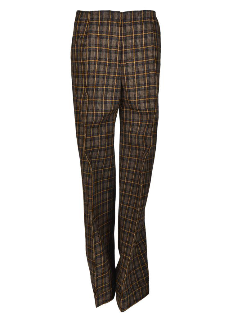 Mulberry Checked Trousers In Brown