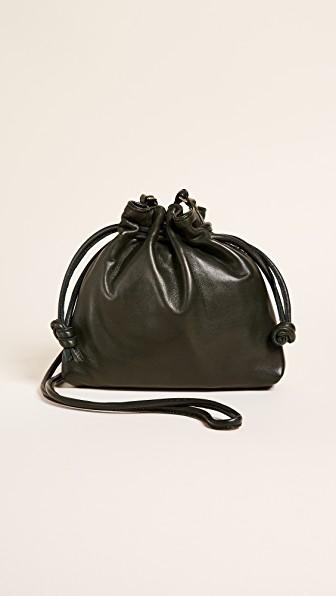 Clare V Petit Henri Maison Drawstring Bag In Loden