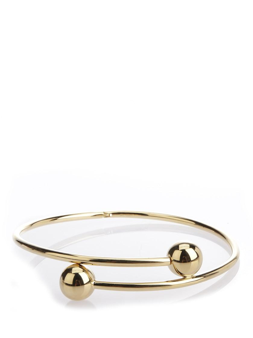 Jw Anderson Double Ball Choker In Gold