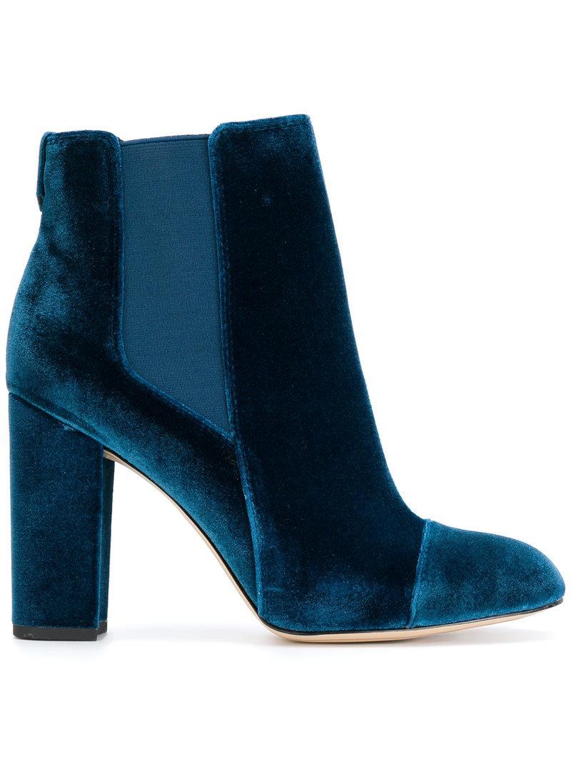 db085eab5 Sam Edelman Women s Case Velvet Cap Toe High-Heel Booties In Jewel ...
