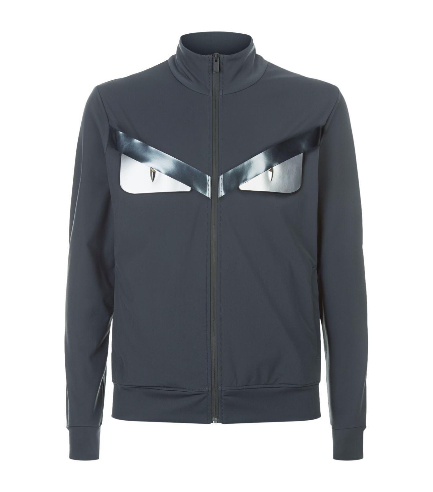 Fendi Technical Zip Up Sweater, Grey, It 54