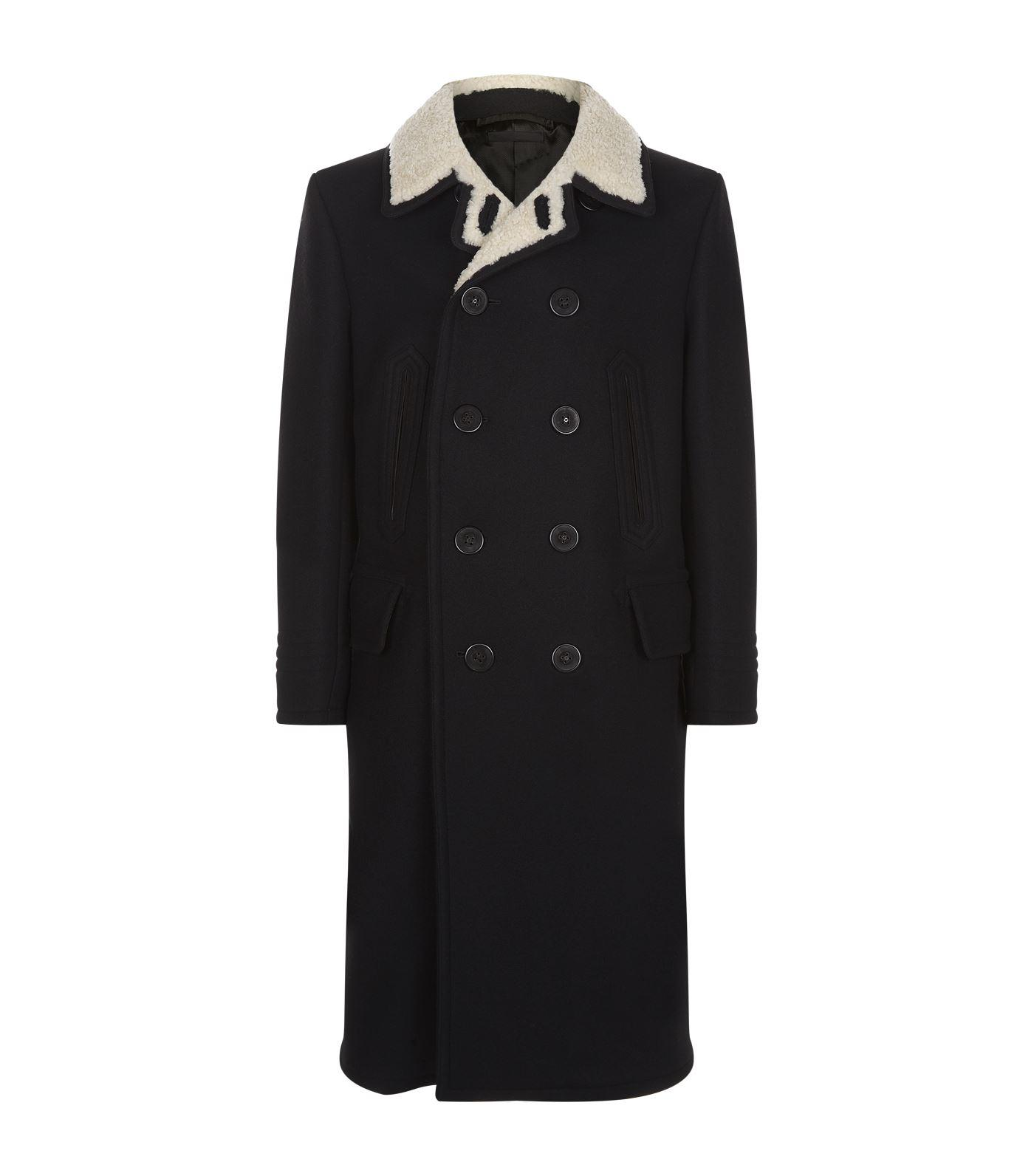 Tom Ford Double-breasted Wool Coat In Black