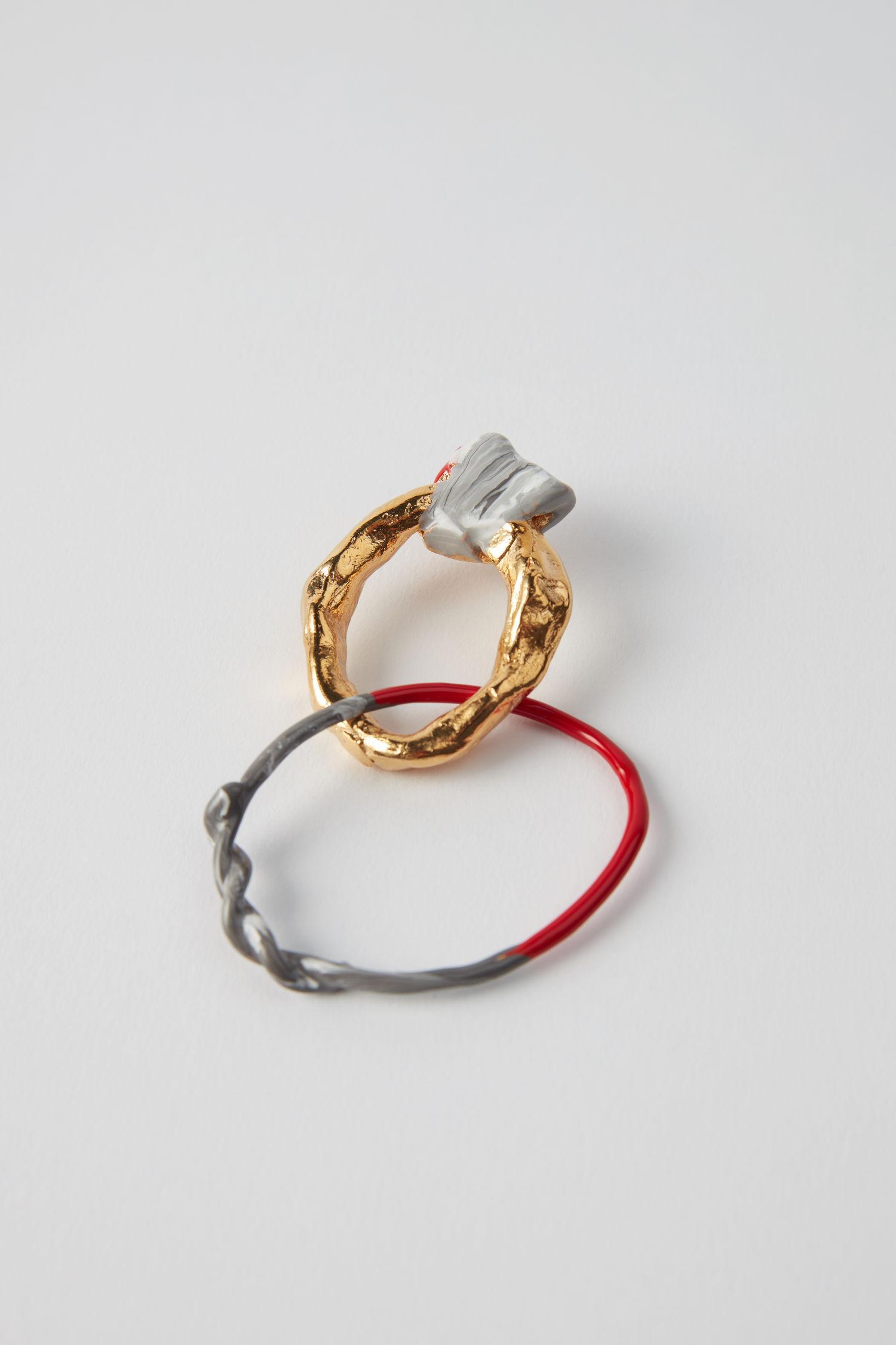 Acne Studios Alin 金色/红色/灰色 In Gold/red/grey