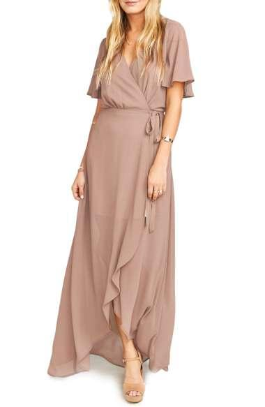 Show Me Your Mumu Sophia Wrap Dress In Dune