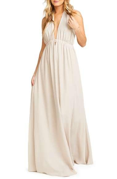 Show Me Your Mumu Luna Halter Gown In Show Me The Ring