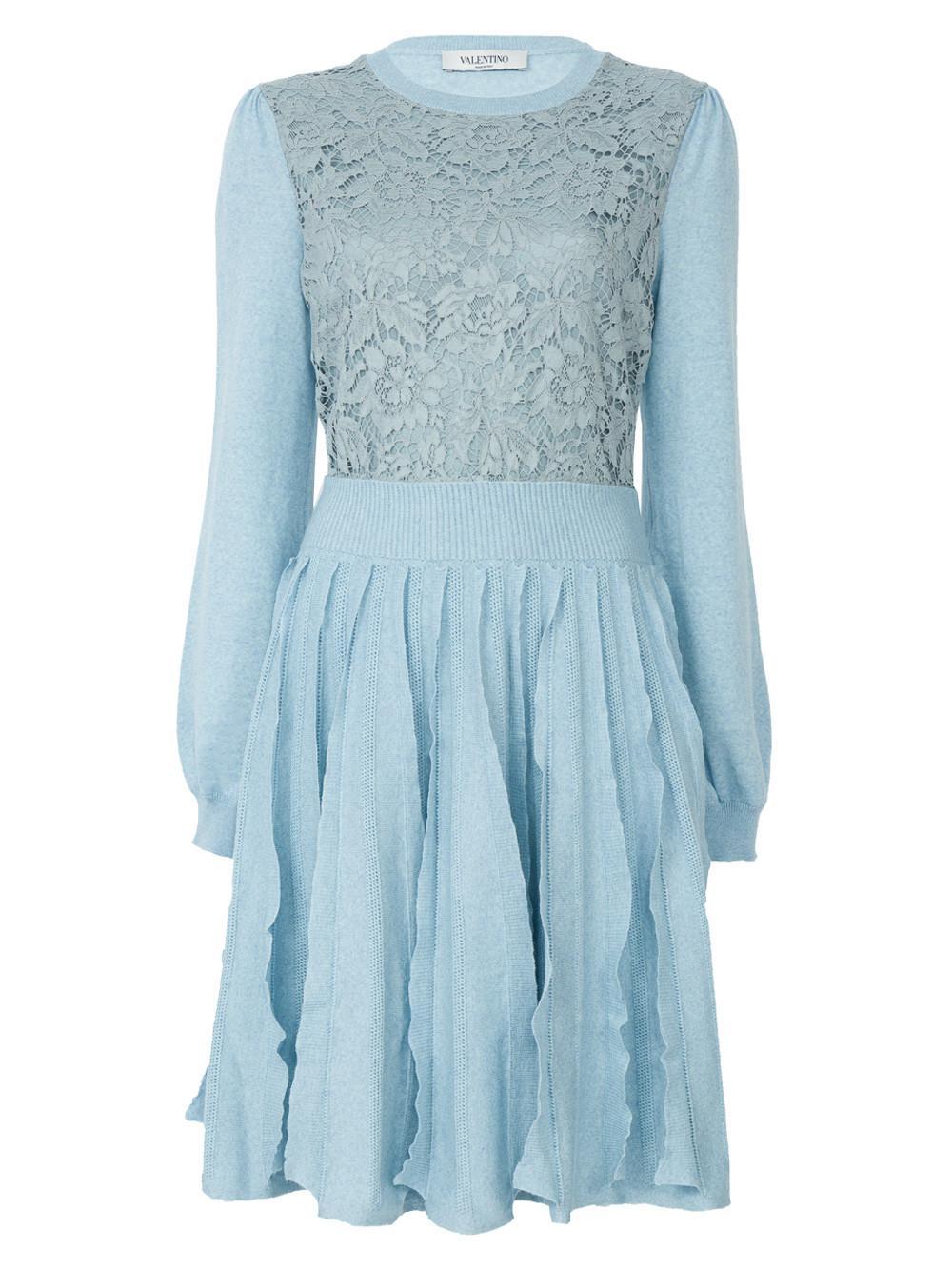 Valentino Blue Abito Dress