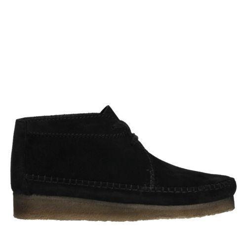 patrocinador Apoyarse Simular  Clarks Weaver Boot - Black Suede   ModeSens