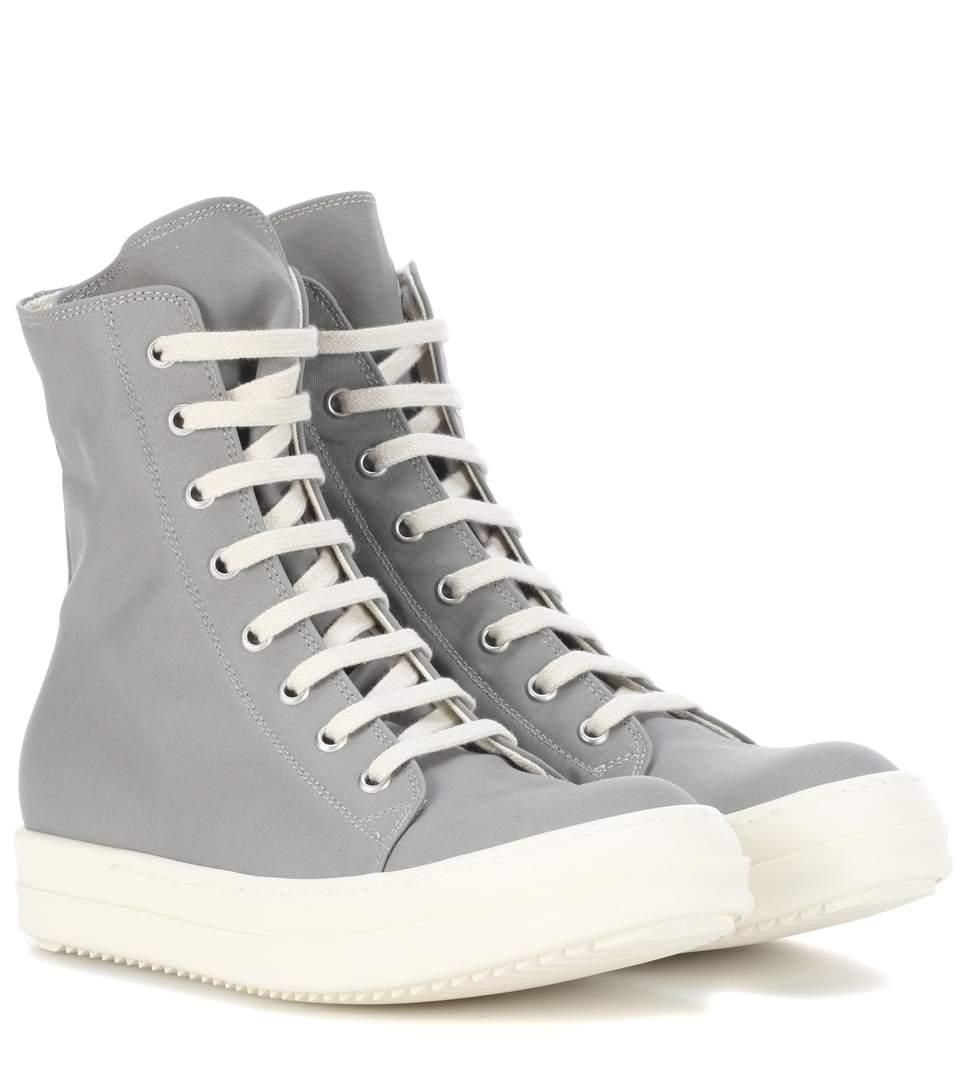Rick Owens Muems High-top Sneakers In Grey