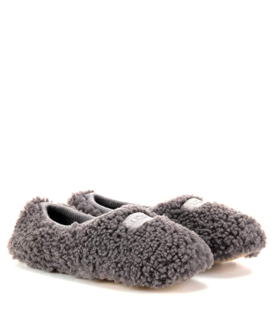 Ugg Birche Fur Slippers In Grey