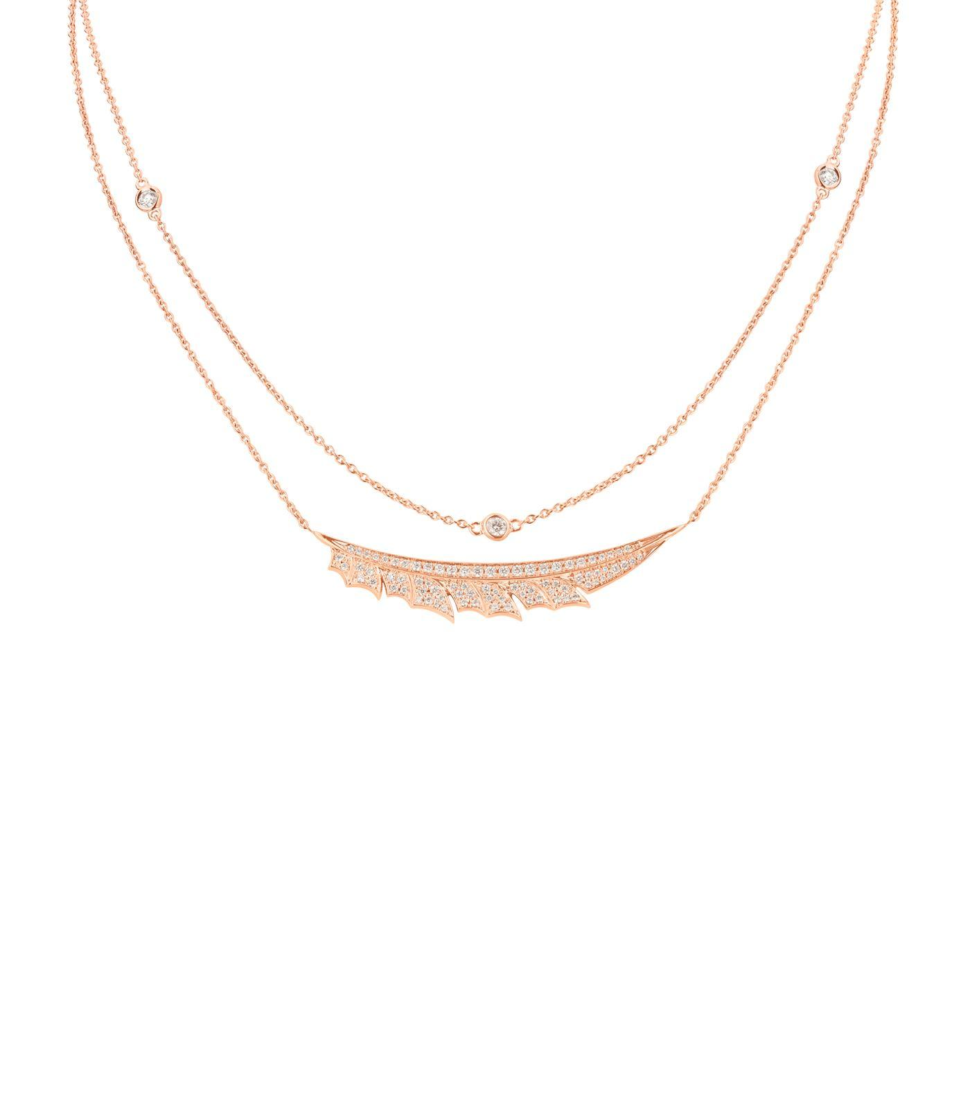 Stephen Webster Magnipheasant Diamond PavÉ Feather Necklace In Gold