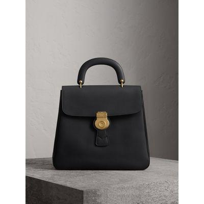 Burberry The Large Dk88 Top Handle Bag In Black