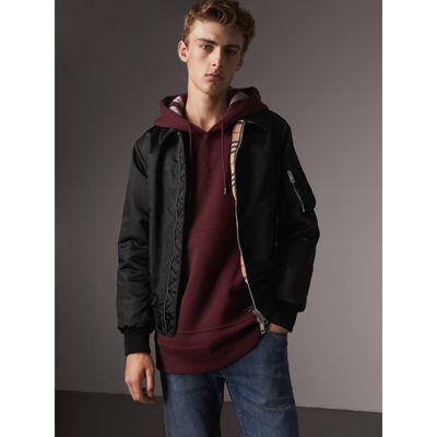 Burberry Point Collar Bomber Jacket In Black
