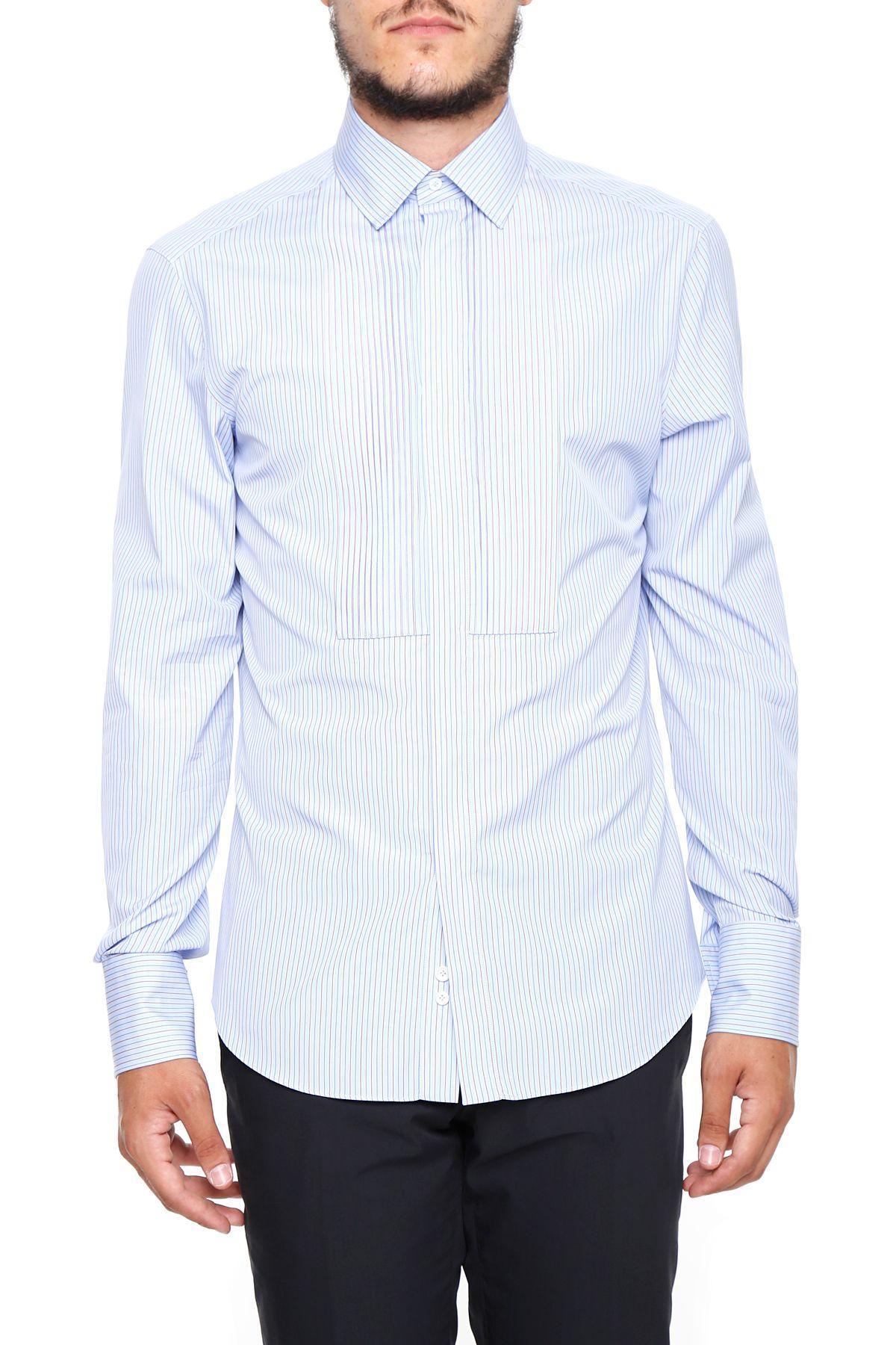 Valentino Striped Shirt In Celeste|celeste
