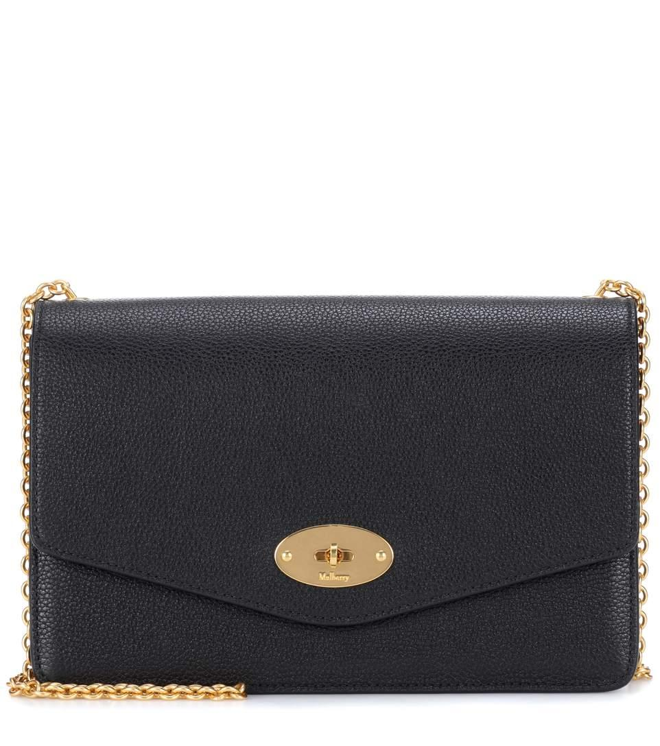 Mulberry Darley Small Classic Leather Shoulder Bag In Llack