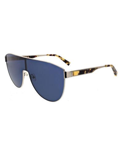 Kendall + Kylie Sasha Shield Sunglasses In Blue