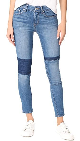 Derek Lam 10 Crosby Devi Mid Rise Authentic Skinny Jeans In Medium Wash