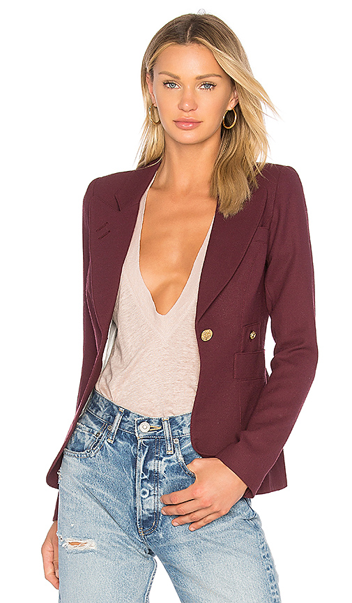 Smythe 'duchess' Single Button Blazer In Wine