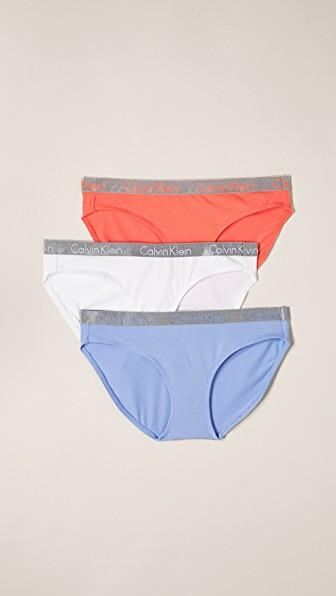 37365ac426ce Calvin Klein Underwear 3 Pack Radiant Cotton Bikini Briefs In Vibration/ White/Ephemeral