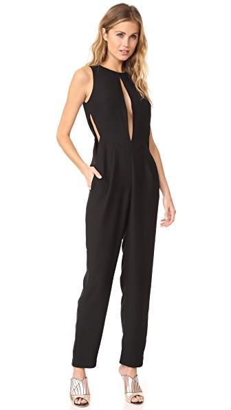 Aq/aq Ivy Jumpsuit In Black