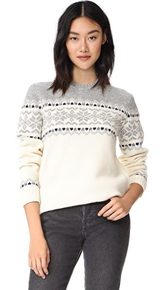 Penfield Heywood Knit Sweater In Ecru