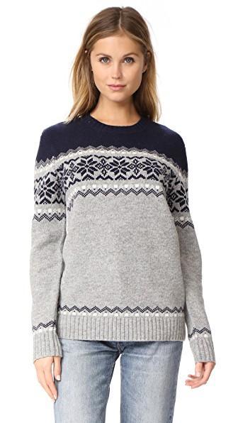 Penfield Heywood Knit Sweater In Light Grey