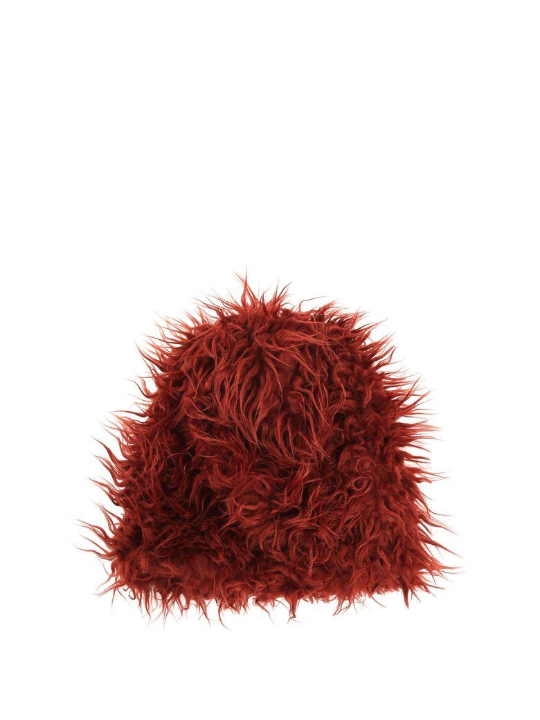 Marni Faux-fur Hat In Mattone