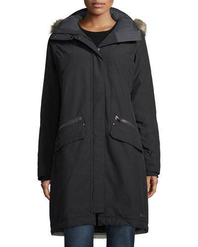 Sorel Joan Of Arctic Ii Parka Jacket W/ Faux Fur In Black