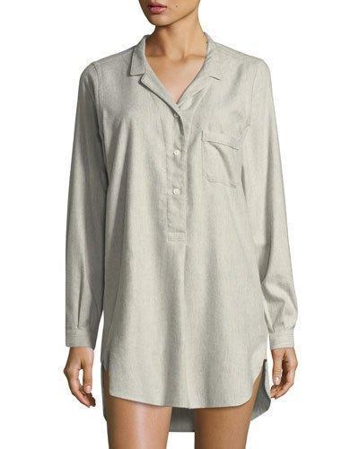 Zimmerli Sensual Opulence Sleepshirt In Light Gray