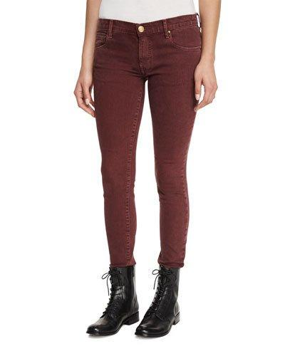 The Great The Skinny Skinny Jeans In Wine