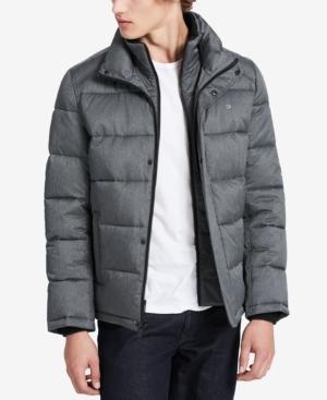 Calvin Klein Men's Classic Puffer Jacket, A Macy's Exclusive In Gray