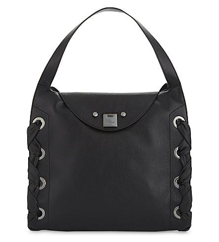 Jimmy Choo Rion Grainy Soft Leather In Black