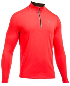 Under Armour Men's Threadborne Streaker Quarter-zip Top In Bright Red