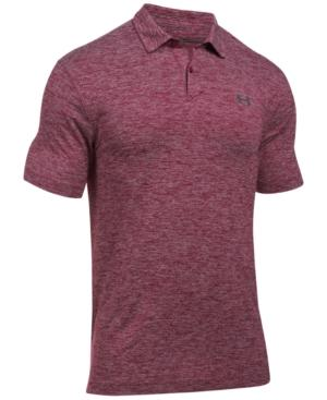 Under Armour Men's Threadborne Tour Performance Polo In Black Currant