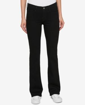 Tommy Hilfiger Pale Blue Wash Bootcut Jeans, Created For Macy's In Black