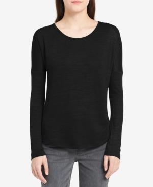 Calvin Klein Jeans Est.1978 Relaxed Long-sleeve T-shirt In Black