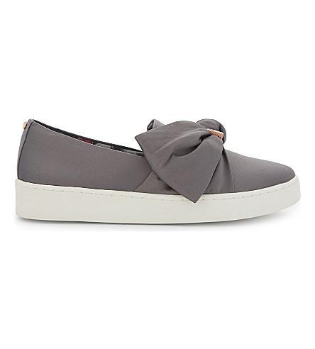 Ted Baker Deyor Stain Bow Slip-on Sneakers In Grey