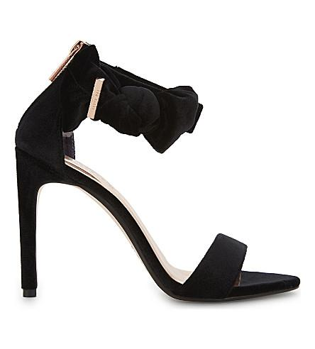 Ted Baker Torabel Bow Detail Leather Sandals In Black