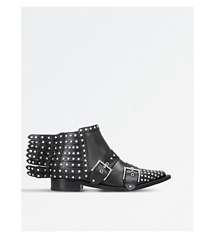 Alexander Mcqueen Fringed Braided Chain Ankle Boot In Black