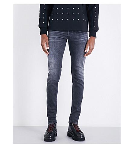 Diesel Sleenker Slim-fit Skinny Jeans In Medium Wash Black