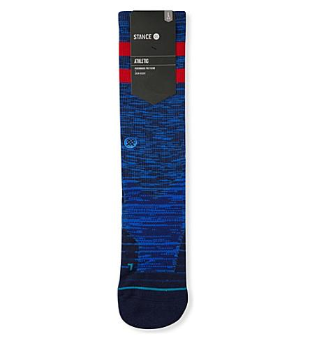 Stance Athletic Franchise Moisture-wicking Socks In Blue Red