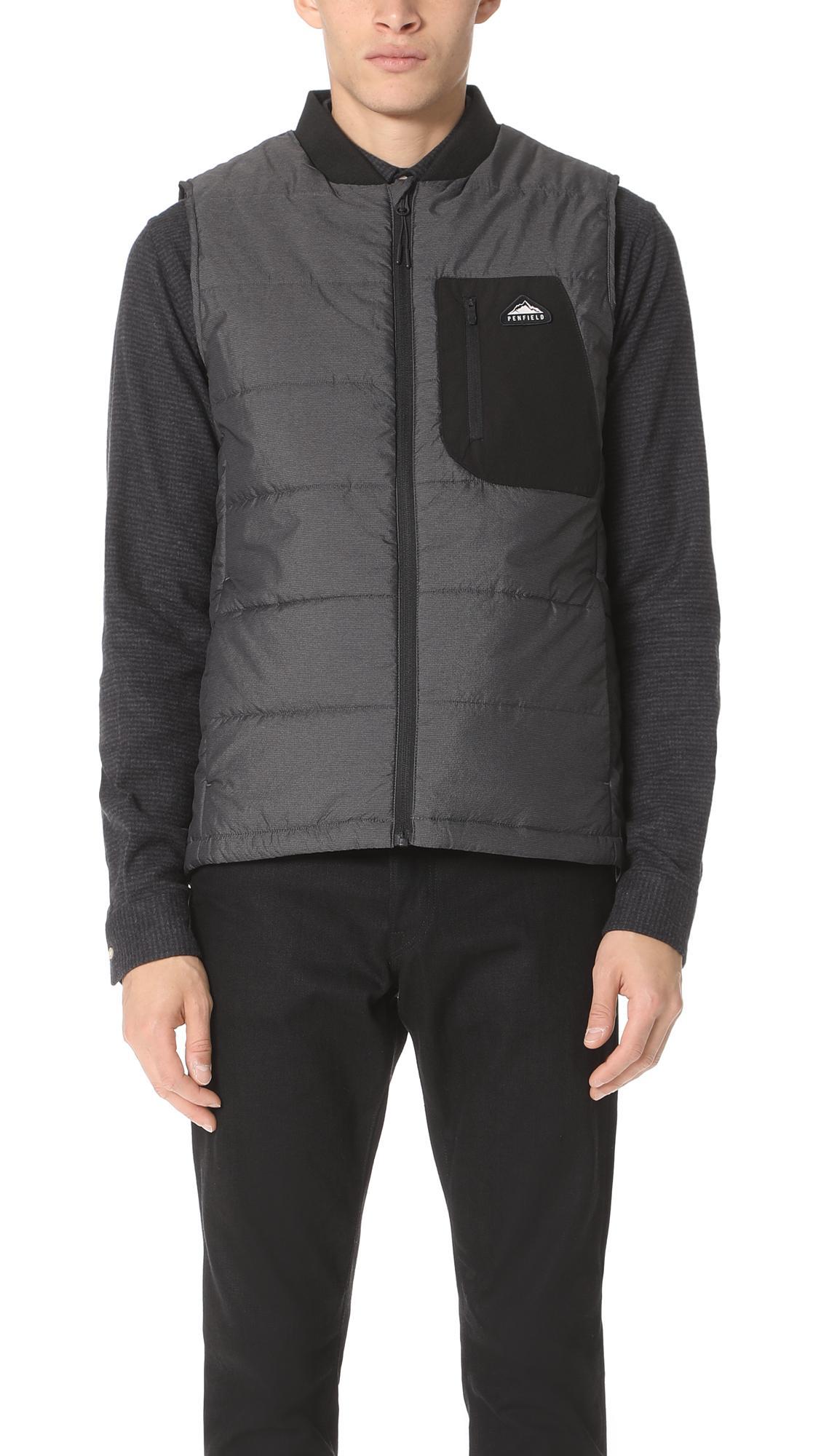 Penfield Foley Vest In Black
