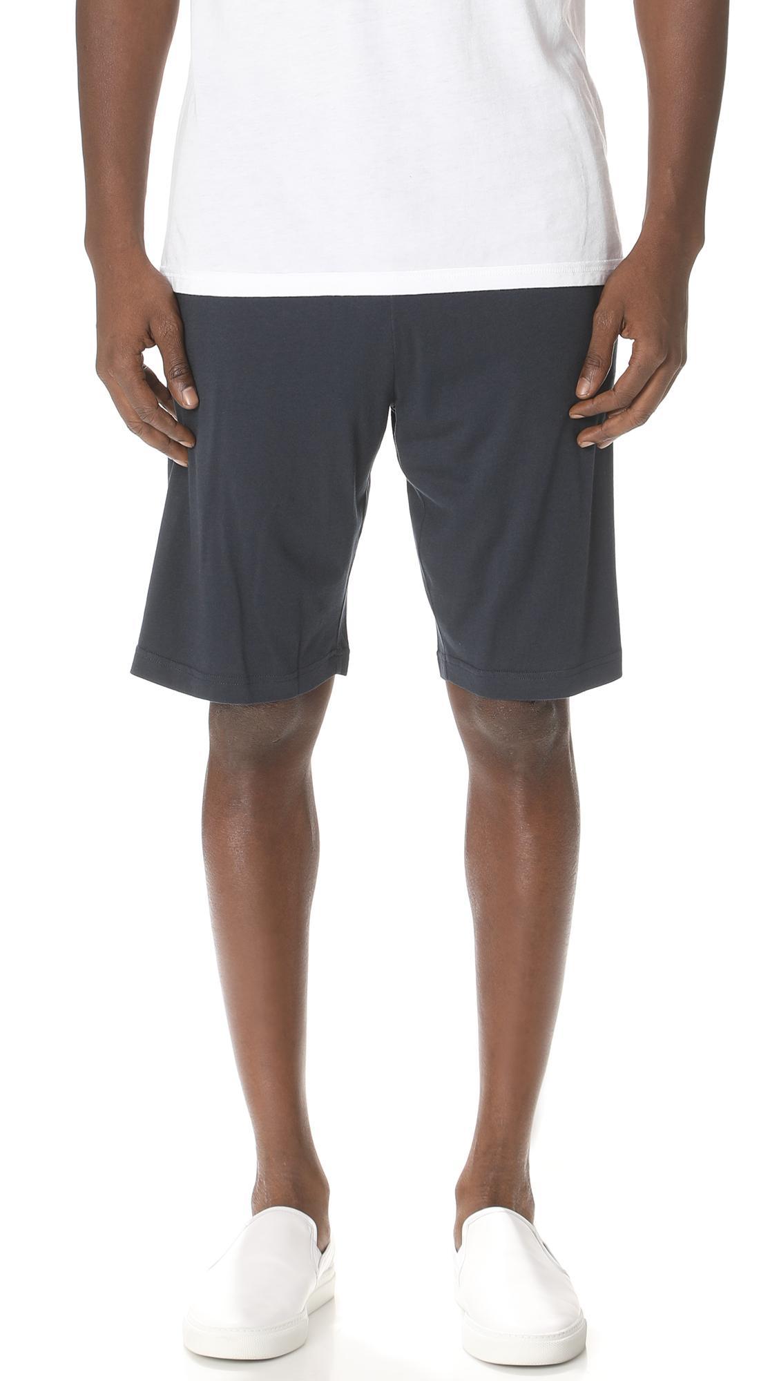 Sunspel Lounge Shorts In Black, Grey