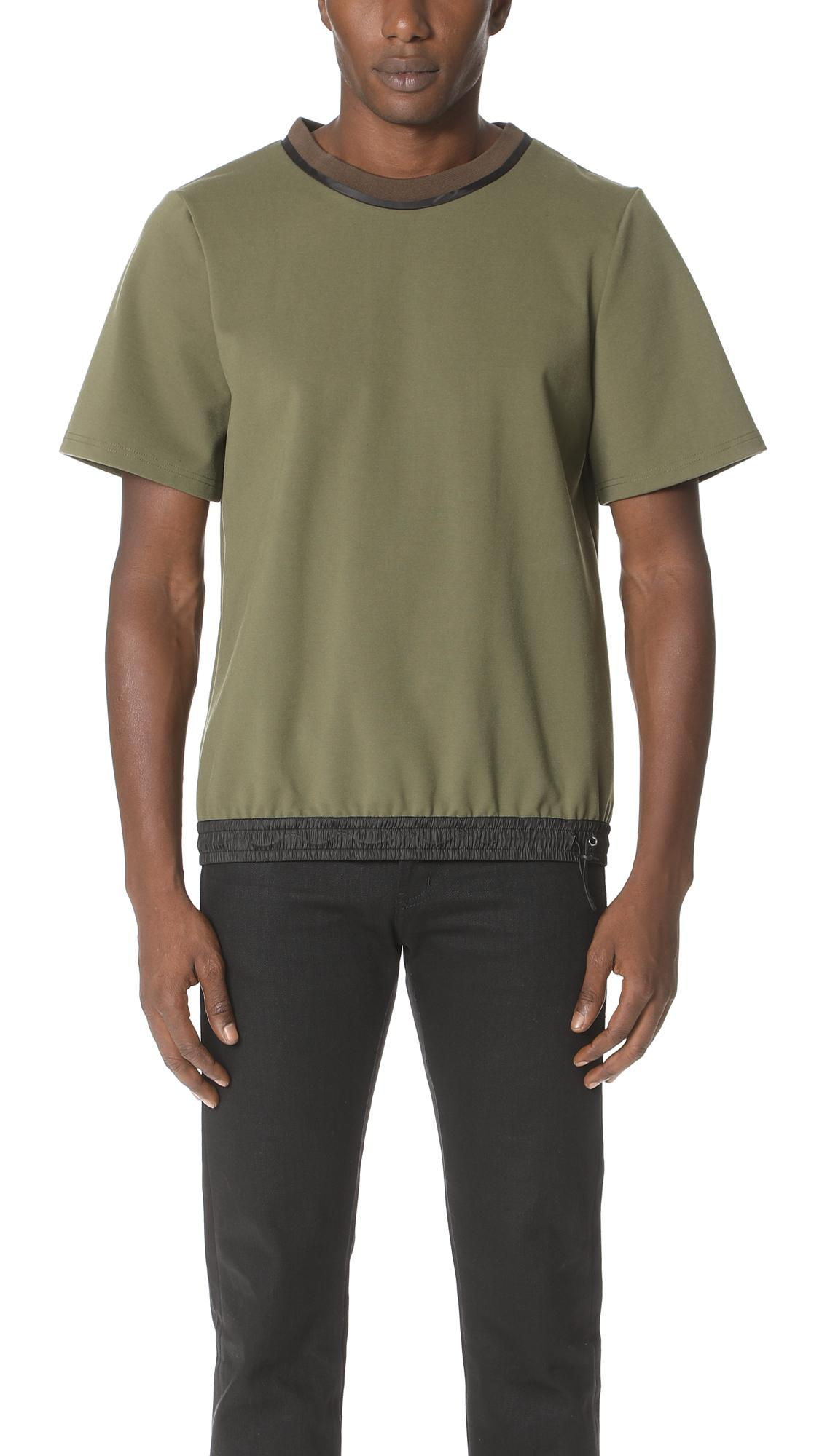 Public School Gonzo Short Sleeve Shirt With Bungee In Olive
