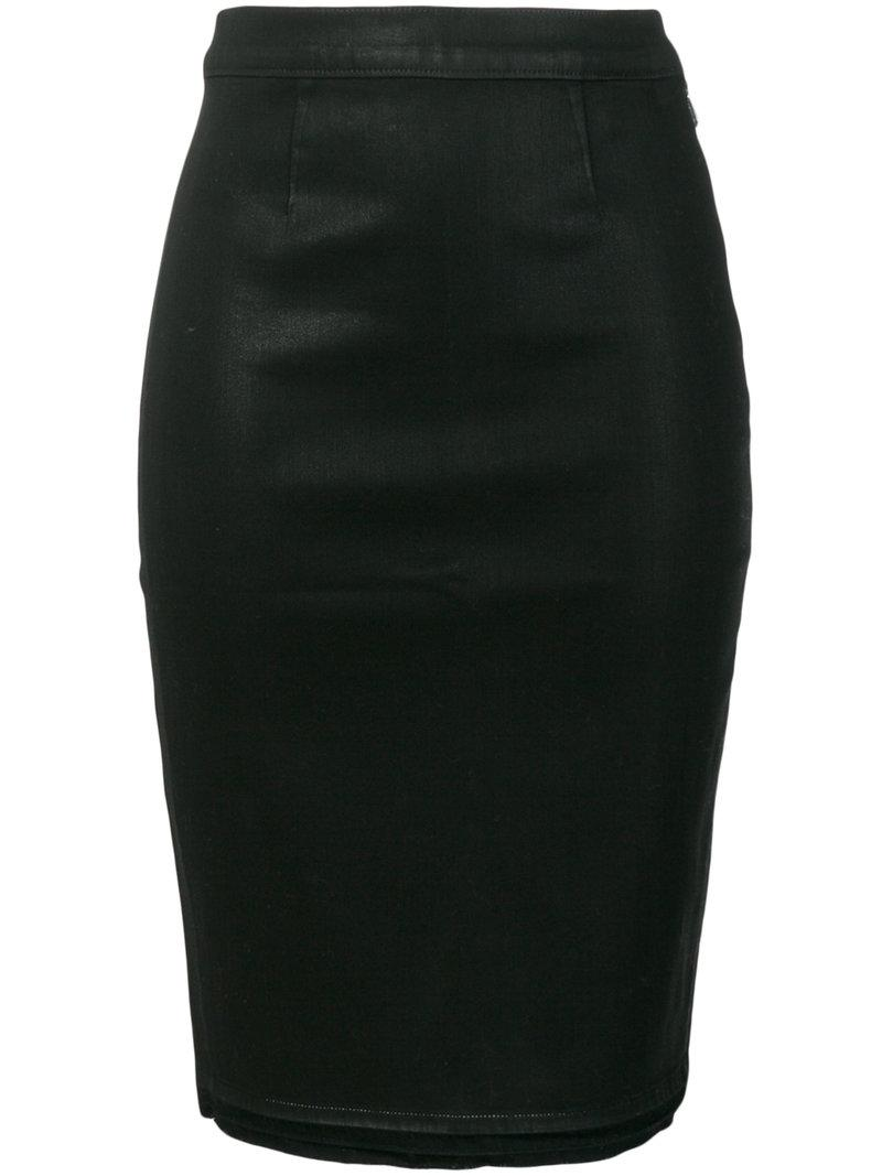 J Brand Fearless Pencil Skirt - Black