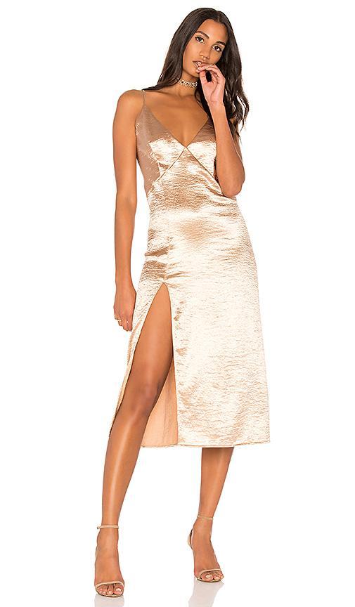 The Jetset Diaries Mirabella Slip Dress In Metallic Gold