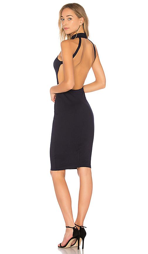 By The Way. Sadie Backless Midi Dress In Navy