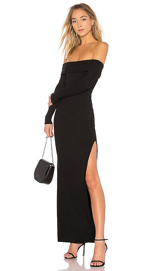 Privacy Please Royale Off The Shoulder Maxi Dress In Black